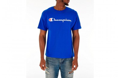 Champion Men's Graphic Jersey T-Shirt - Royal
