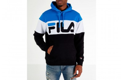 Fila Men's Flamino Pullover Hoodie - Blue/White/Black