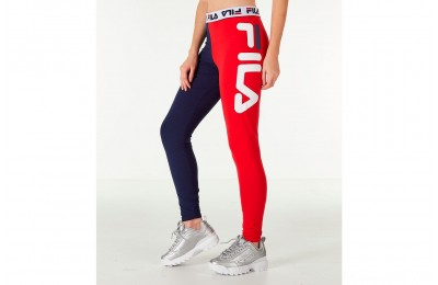 Fila Women's Vita High-Waisted Leggings - Navy/Red