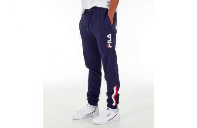 Fila Men's Callum Fleece Sweatpants - Navy/Red/White