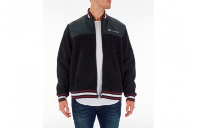 Champion Men's Sherpa Baseball Jacket - Black