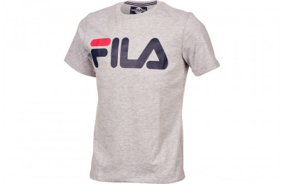 Fila Kids' Heritage Logo T-Shirt - Grey Heather