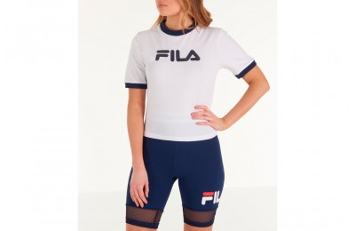 Fila Women's Tionne Cropped T-Shirt - White