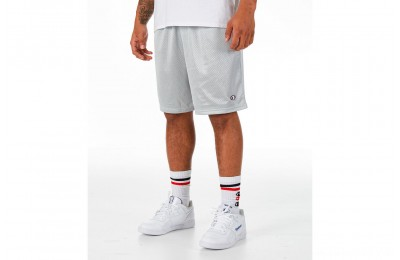Champion Men's Classic Mesh Shorts - Light Grey