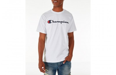 Champion Men's Graphic Jersey T-Shirt - White