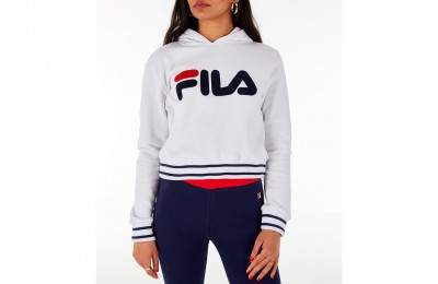 Fila Women's Rosemary Hoodie - White/Blue/Red