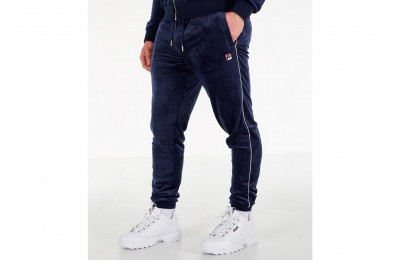 Fila Men's Bounty Velour Pants - Navy