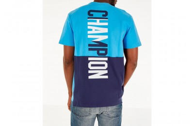 Champion Men's Heritage Shift Pocket T-Shirt - Active Blue