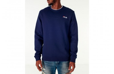 Fila Men's Colona Crew Sweatshirt - Navy