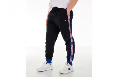 Champion Men's Side Tape Track Jogger Pants - Black/Royal