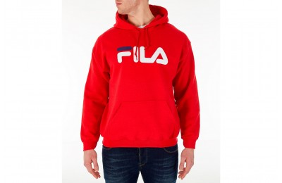 Fila Men's Hound Hoodie - Red/White