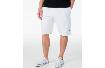 Champion Men's Reverse Weave Fleece Shorts - White