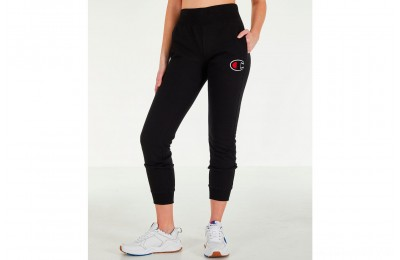 Champion Women's Reverse Weave Chenille Jogger Sweatpants - Black