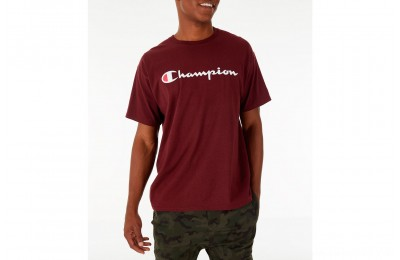 Champion Men's Graphic Jersey T-Shirt - Maroon
