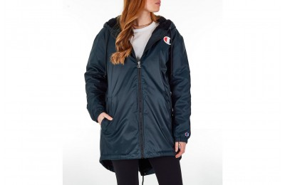 Champion Women's Sherpa Lined Stadium Jacket - Black