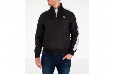 Fila Men's Hopper Half-Zip Wind Jacket - Black
