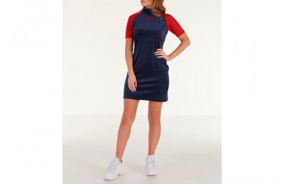 Fila Women's Mahggie Dress - Navy/Red