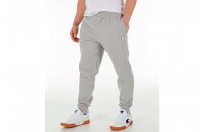 Champion Men's Reverse Weave Small Logo Jogger Pants - Oxford Grey