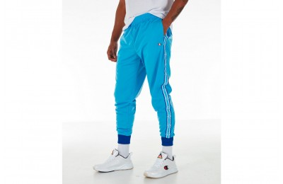 Champion Men's Side Tape Track Jogger Pants - Active Blue