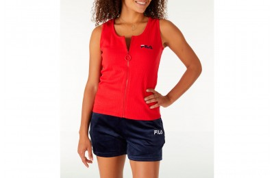 Fila Women's Marcella Zip Tank - Red