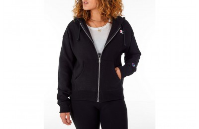 Champion Women's Reverse Weave Full-Zip Hoodie - Black