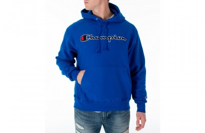 Champion Men's Reverse Weave Chenille Logo Hoodie - Surf the Web