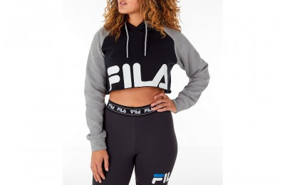 Fila Women's Luciana Hoodie - Black/Grey/White