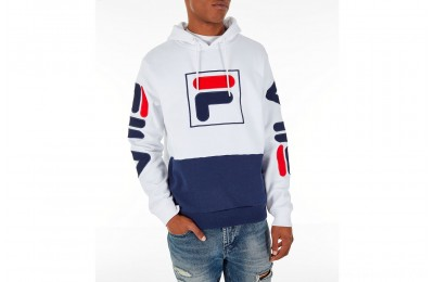 Fila Men's Tony Hoodie - White/Navy
