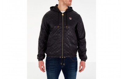 Fila Men's Copper Full-Zip Wind Jacket - Black