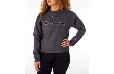Champion Women's Reverse Weave Crew Sweatshirt - Granite Heather
