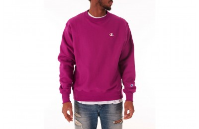 Champion Men's Reverse Weave Crewneck Sweatshirt - Fuchsia