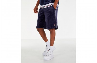 Fila Men's Cristaudo Velour Shorts - Navy