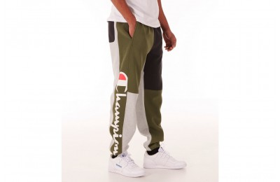 Champion Men's Reverse Weave Colorblock Jogger Pants - Green/Black