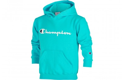 Champion Kids' Powerblend Fleece Hoodie - Aqua