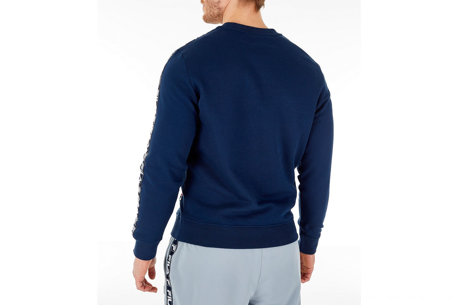 Fila Men's Tag Fleece Crewneck Sweatshirt - Navy
