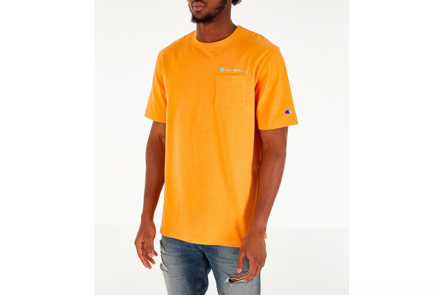 Champion Men's Heritage Pocket T-Shirt - Capri Orange