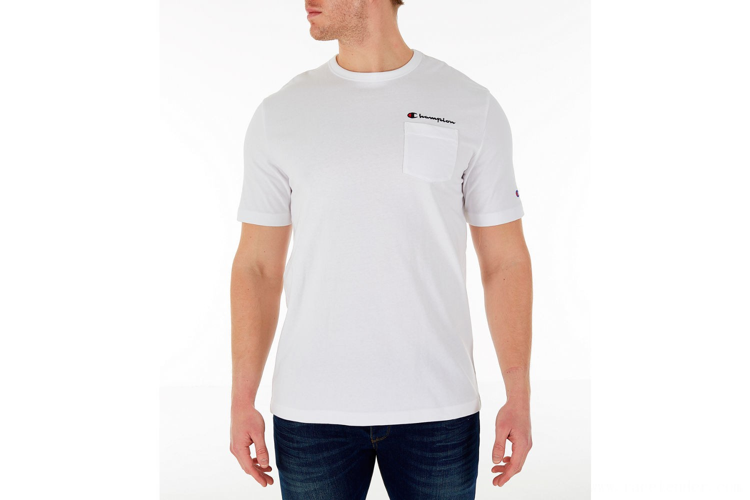 Champion Men's Heritage Pocket T-Shirt - White