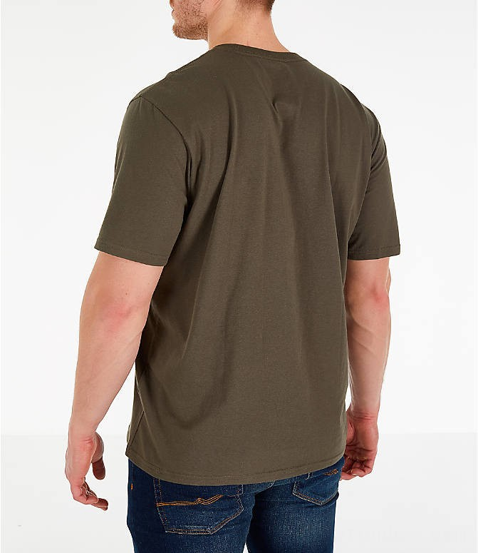 The North Face Men's Simple Dome T-Shirt New Taupe Green/TNF Black