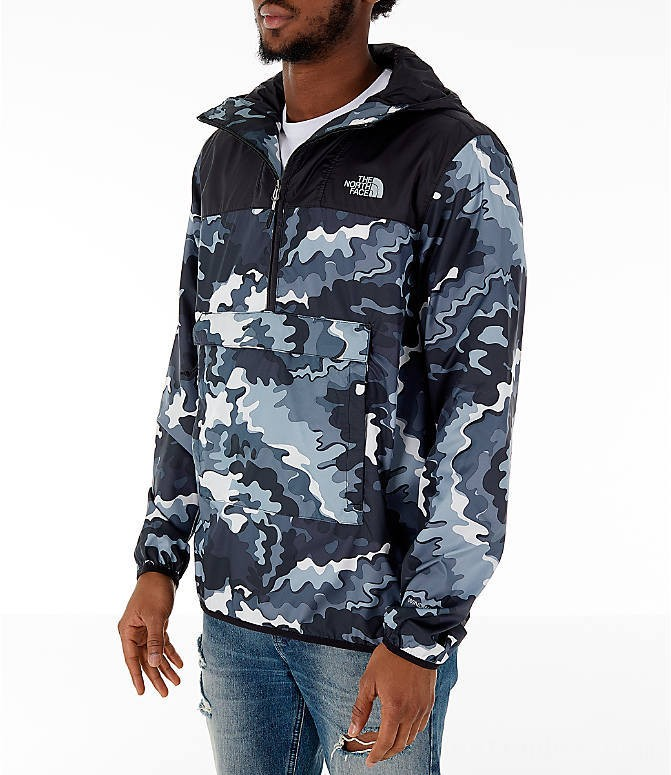 The North Face Men's Novelty Fanorak Half-Zip Jacket Black Print