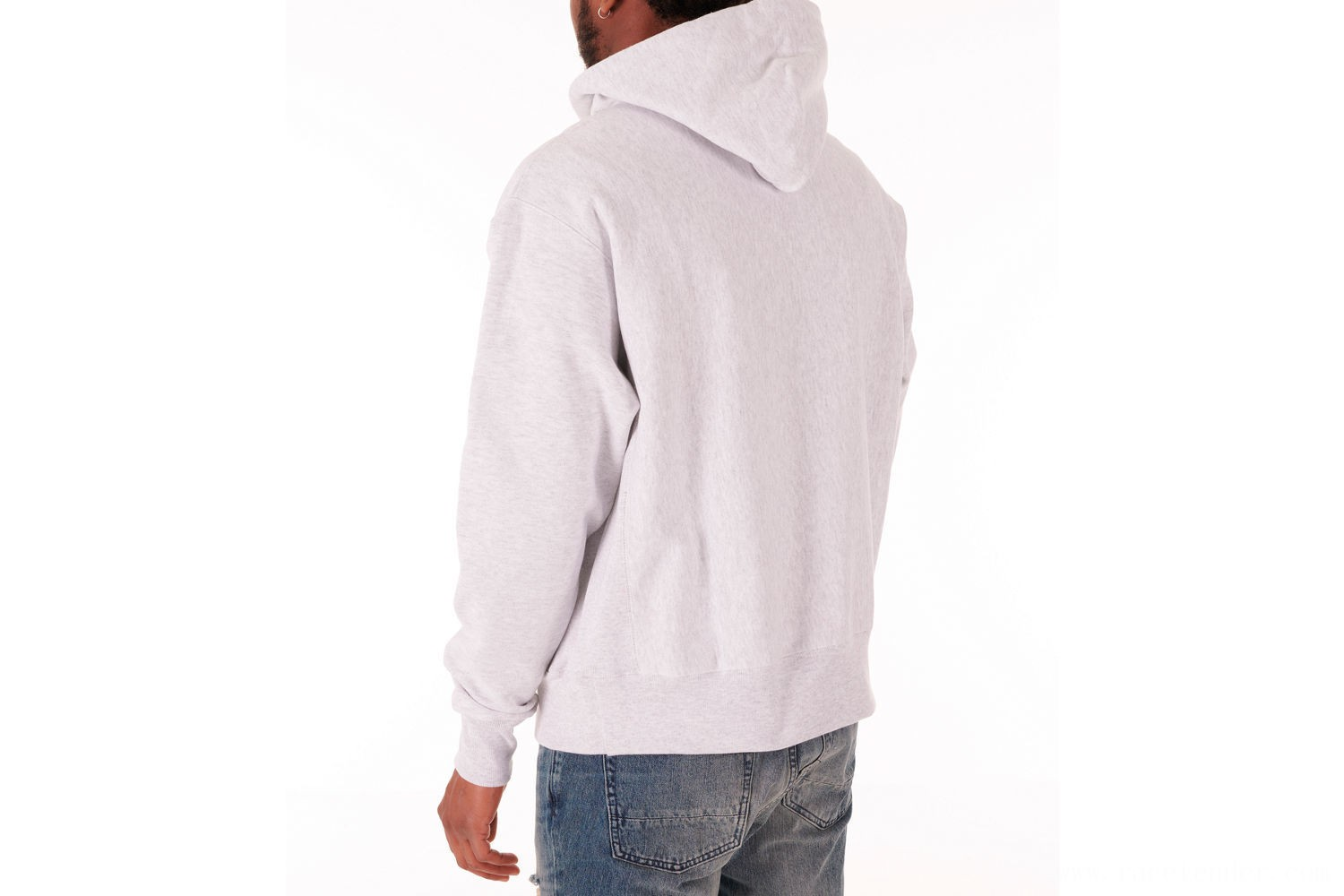 Champion Men's Reverse Weave Flock Hoodie - Grey