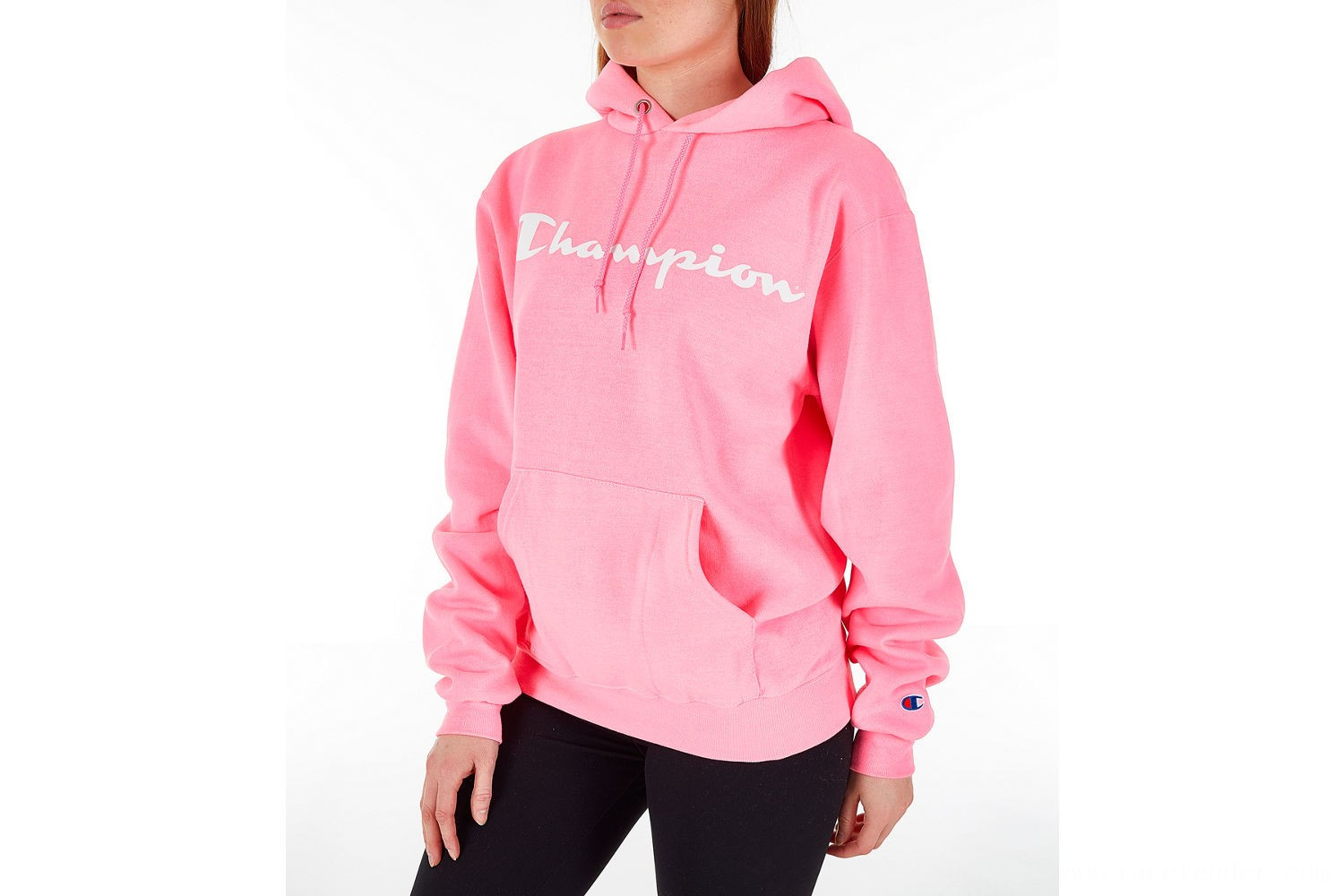 Champion Women's Powerblend Fleece Hoodie - Pink
