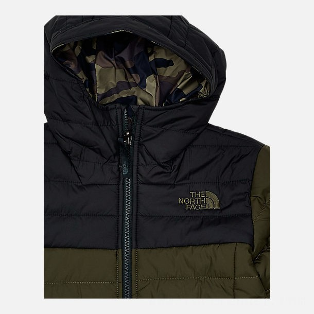 The North Face Boys' Perrito Reversible Jacket Mid Green