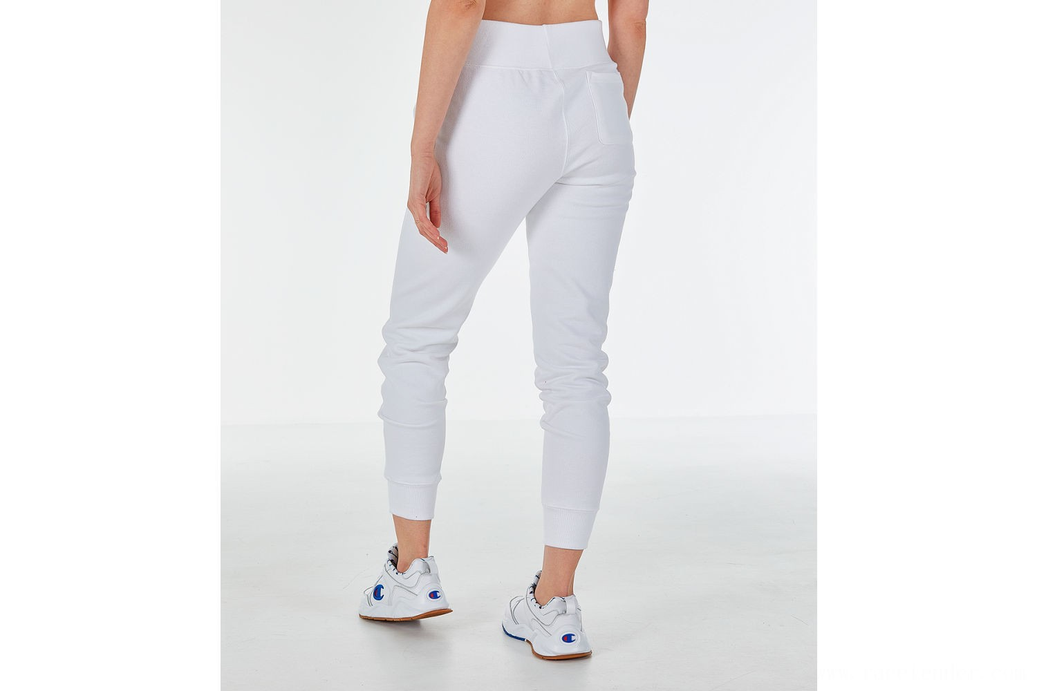 Champion Women's Reverse Weave Chenille Jogger Sweatpants - White