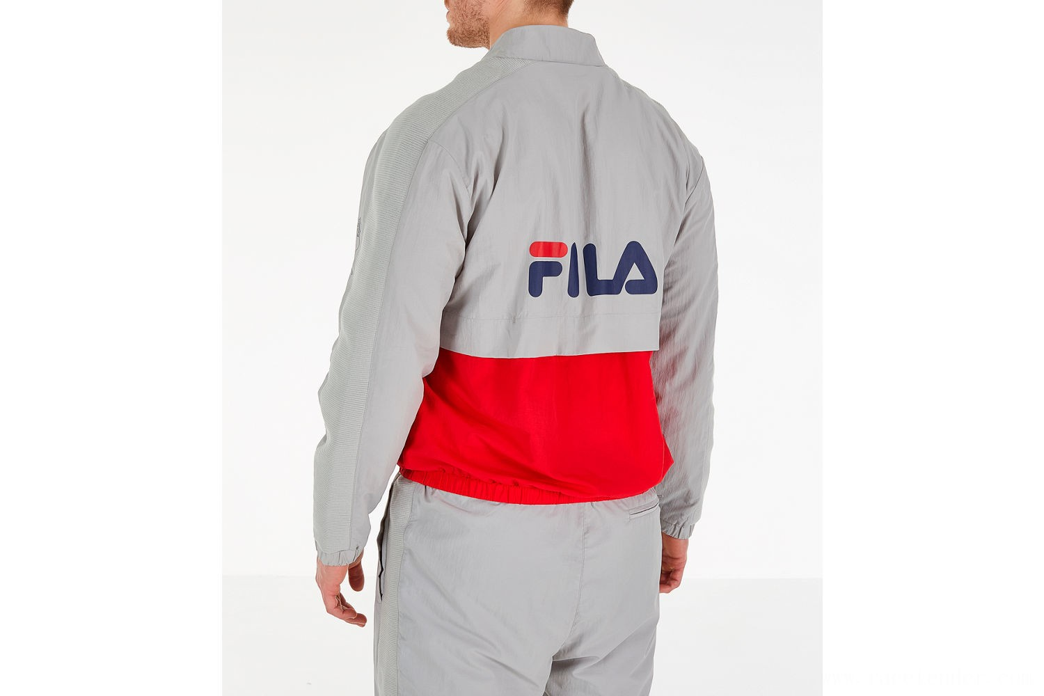 Fila Men's Gus Half-Zip Track Jacket - Grey