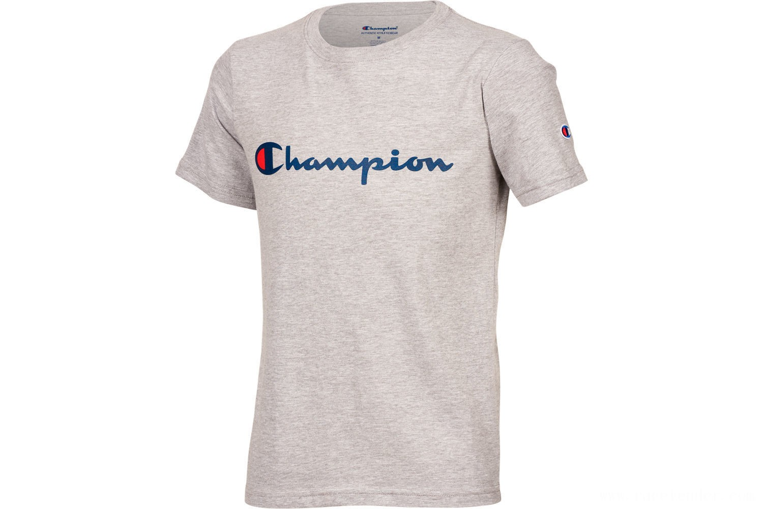 Champion Kids' Heritage T-Shirt - Grey/White