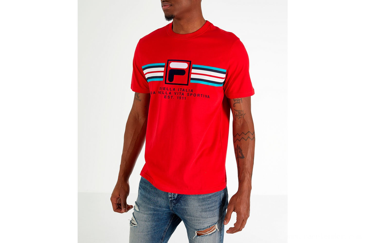 Fila Men's Heritage Mercedes T-Shirt - Red