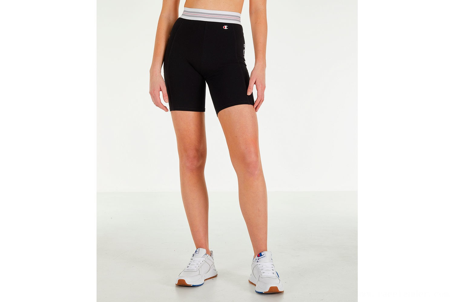Champion Women's Power Cotton Bike Shorts - Black