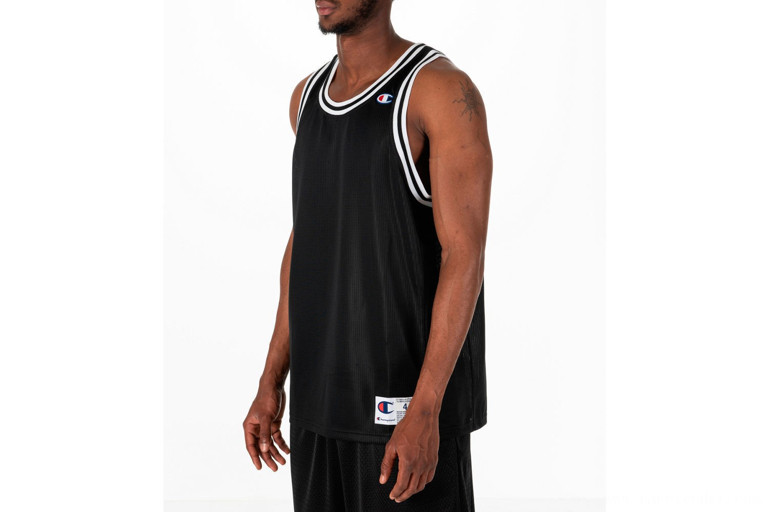 Champion Men's City Mesh Jersey - Black/White