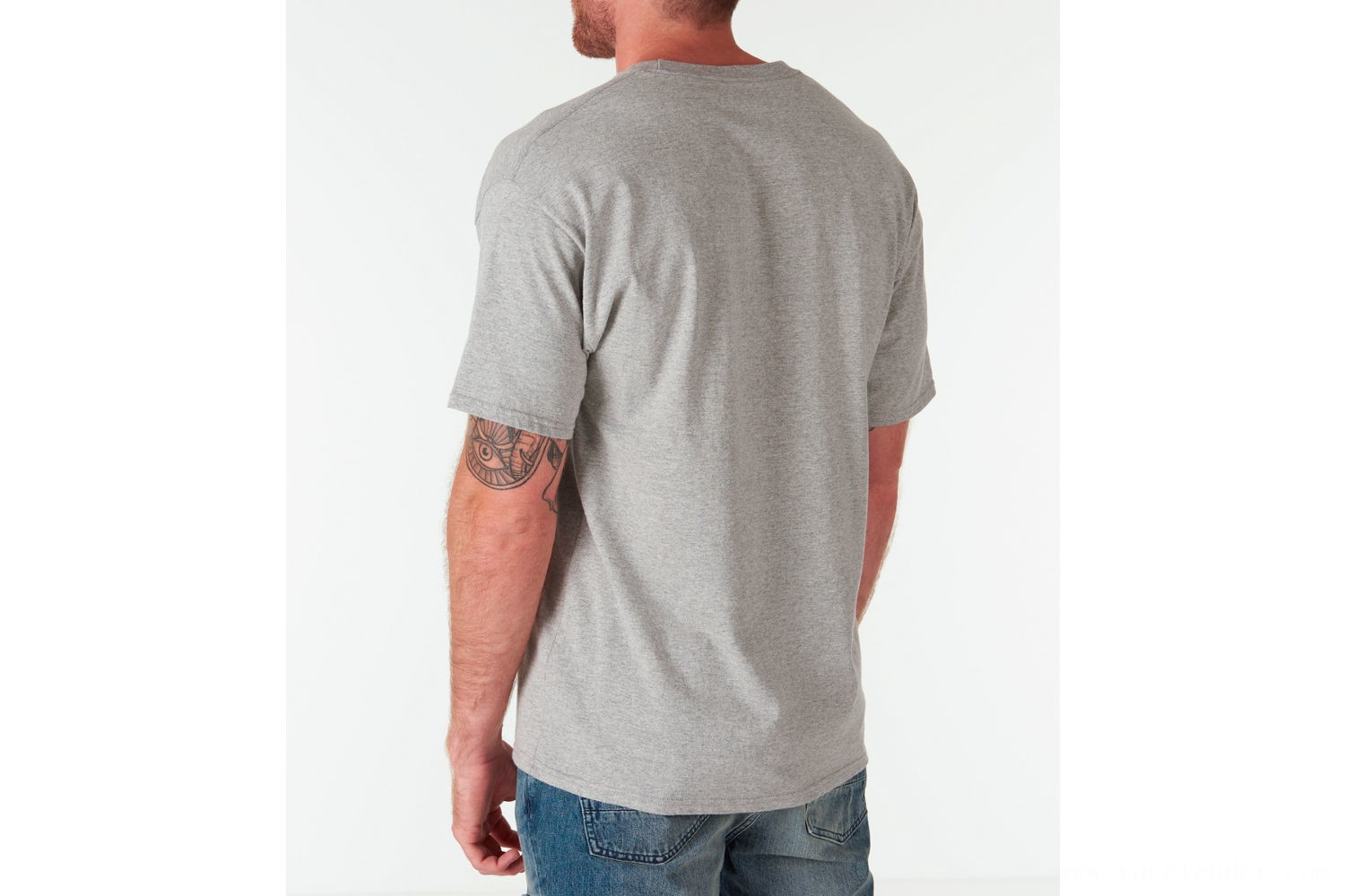 Champion Men's Graphic Jersey T-Shirt - Oxford Grey