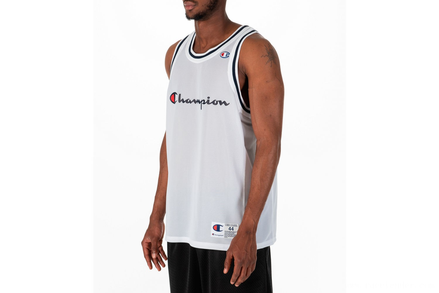 Champion Men's Graphic Mesh Jersey - Grey/White